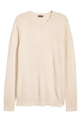 H&M Fine-knit Sweater - Light beige - Men