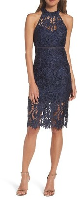 Women's Bardot Isa Lace Halter Dress $159 thestylecure.com