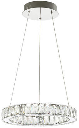 Jonathan Y Designs Reese Adjustable Integrated Led Metal/Crystal Chandelier Pendant