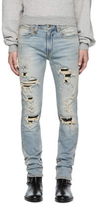 R 13 Blue Skate Jeans