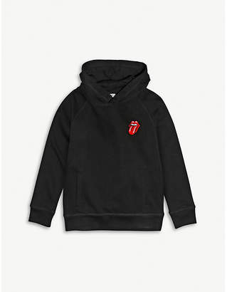 JUNIOR RAGS X ROLLING STONES Slogan-embroidered cotton hoody 3-14 years