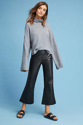 Just Female Zeus Cropped Leather Flares