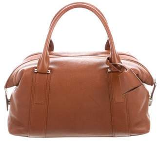 Akris Leather Handle Bag Brown Leather Handle Bag