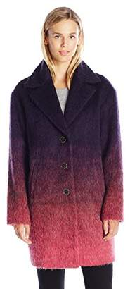 Juicy Couture Black Label Women's Hw Wooly Ombre Coat
