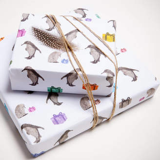 Chloé Gardner Two Sheets Of Penguin Wrapping Paper