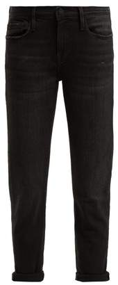 Frame Le Garcon Slim Leg Cropped Jeans - Womens - Black