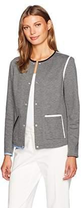 Anne Klein Women's Snap Button One Pocket Jacket