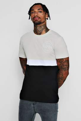 boohoo MAN Colour Block T-Shirt