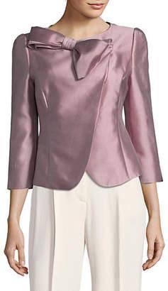 Emporio Armani Quarter-Sleeve Bow Jacket