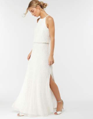 4855070f63a7 Monsoon Diana Embellished Maxi Wedding Dress