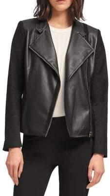 DKNY Asymmetrical Full-Zip Jacket