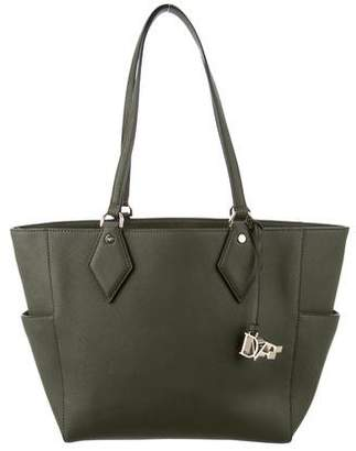Diane von Furstenberg Grained Leather Tote