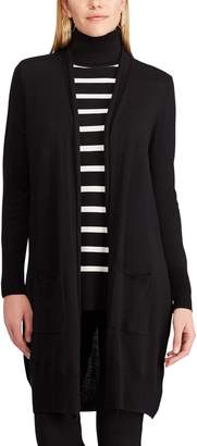 Chaps Petite Open Front Long Cardigan