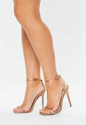 Missguided Satin Skinny Barely There Heels