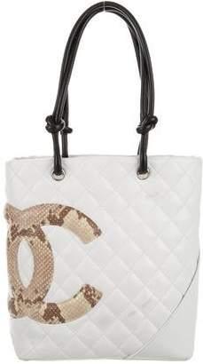 Chanel Python Ligne Cambon Bucket Tote $725 thestylecure.com