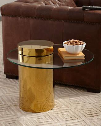 REGINA ANDREW Odette Glass Top Side Table