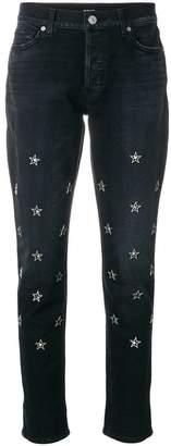 Hudson star embellished jeans