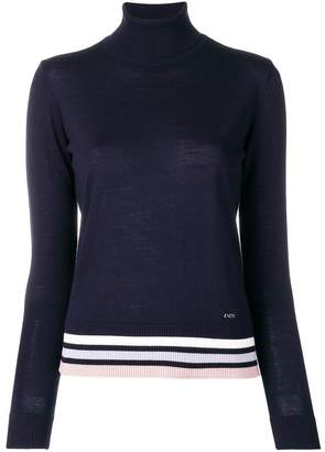 Emporio Armani striped trim jumper