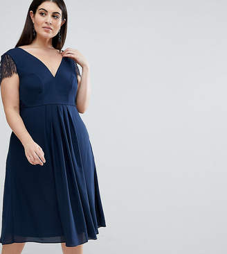 5233ec8a00b Asos Kate Lace Cowl Back Midi Dress