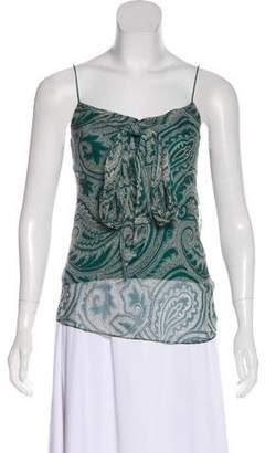 3d1f5ee0df63d Diane von Furstenberg Silk Paisley Print Sleeveless Top