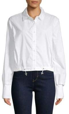 Kenneth Cole Boxy Cotton Shirt