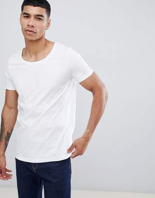 13bf9595 Asos Design DESIGN t-shirt with scoop neck in white