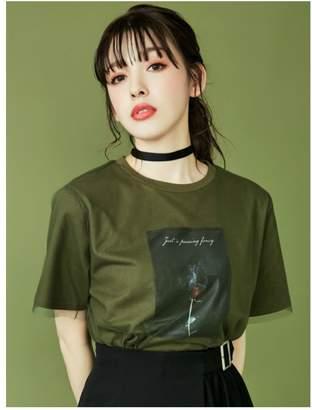 EATME (イートミー) - EATME チュールラッピンググラフィックTシャツ