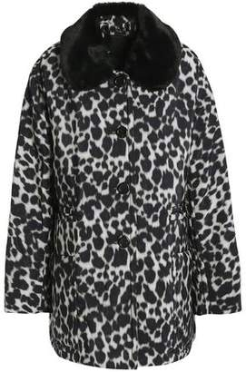 Marc Jacobs Leopard-Print Faux Fur-Trimmed Shell Down Jacket