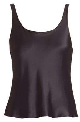 Natori Key Double Layer Silk Tank Top