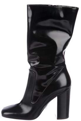 Michael Kors Patent Leather Mid-Calf Boots