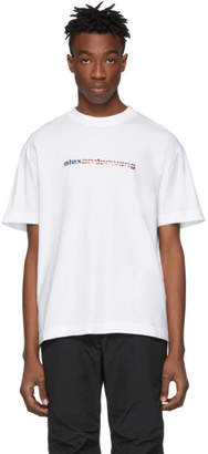 Alexander Wang White High Twist Flag Logo T-Shirt