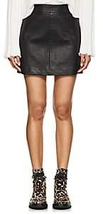 Helmut Lang Women's Stretch-Leather Miniskirt-Black