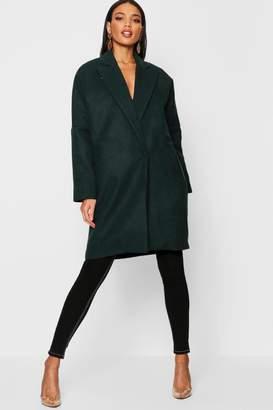 boohoo Tailored Collared Wool Look Coat