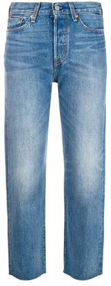 Levi's mid rise cropped skinny jeans