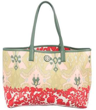 Tory Burch Printed Robinson Canvas Tote