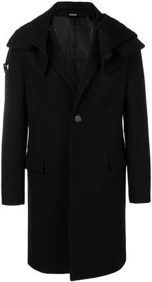 Lanvin hooded single breasted coat