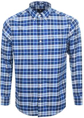 Gant Brushed Winter Twill Plaid Check Shirt Blue