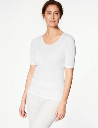 Marks and Spencer 2 Pack Thermal Short Sleeve Pointelle Tops