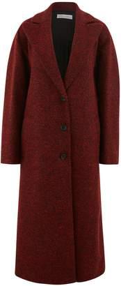 RED Valentino Ruffle herringbone coat