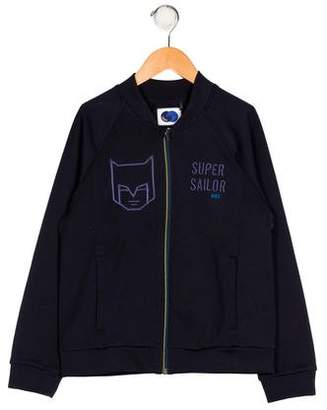 Ikks Boys' Embroidered Zip-Up Jacket