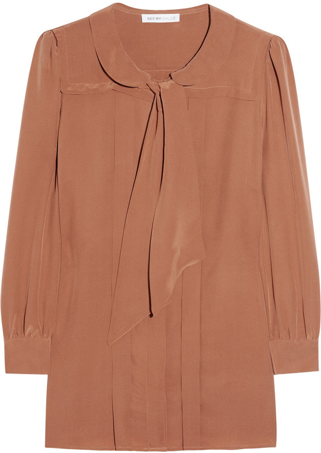 See by Chloé Silk crepe de chine blouse