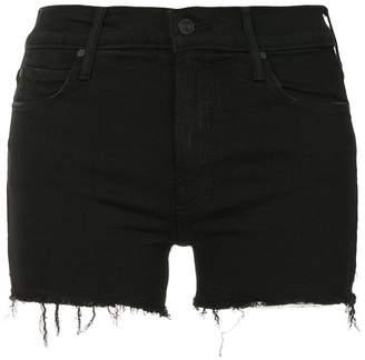 Mother frayed hem denim shorts