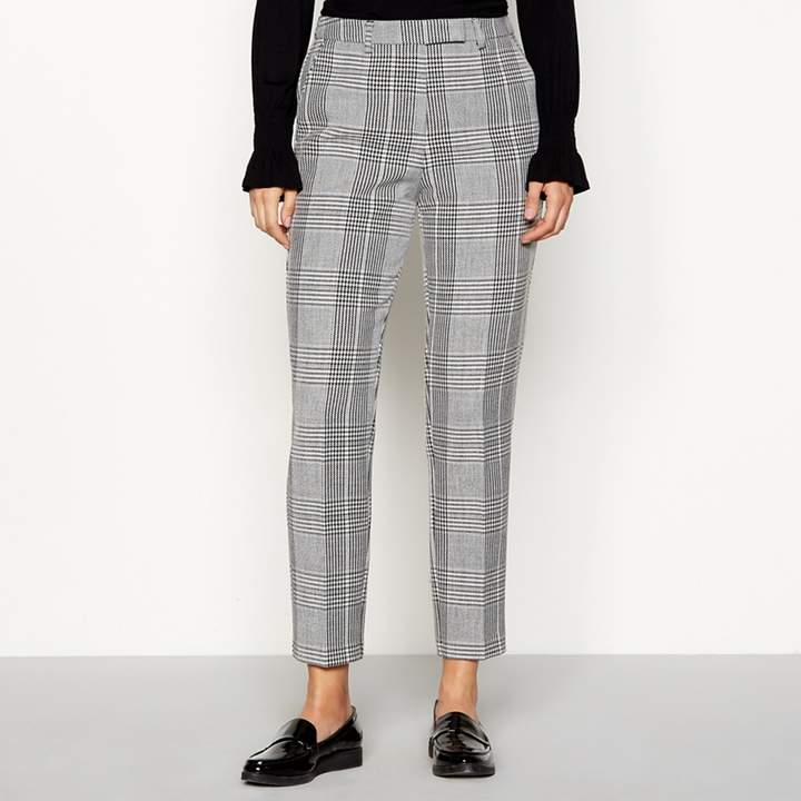 Grey Check Suit Trousers