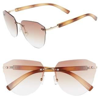 Sam Edelman 60mm Rimless Cat Eye Sunglasses