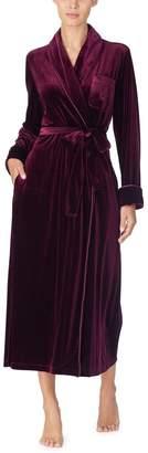 Lauren Ralph Lauren Womens Wine Velvet Robe - Red