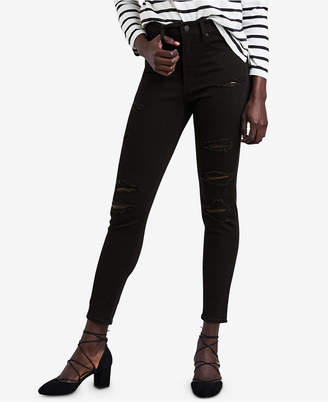 Levi's Mile High Ripped Skinny Ankle Jeans