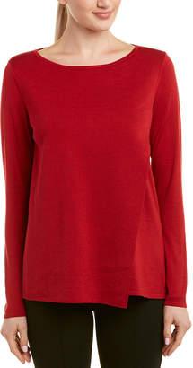 Lafayette 148 New York Asymmetric Silk-Blend Sweater