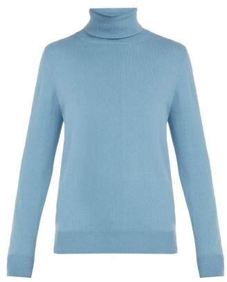 Allude - Roll Neck Cashmere Sweater - Mens - Light Blue