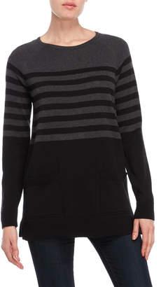 Jeanne Pierre Striped Pocket Sweater