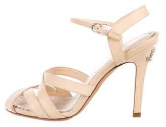 Chanel CC Leather Strap Sandals